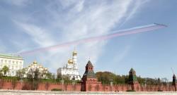 Foto LUSA: 70 º aniversário do fim da Segunda Guerra Mundial. Moscovo.  EPA/MAXIM SHIPENKOV