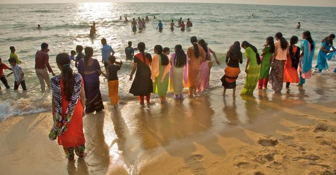 Praia de Cherai, Kerala, India