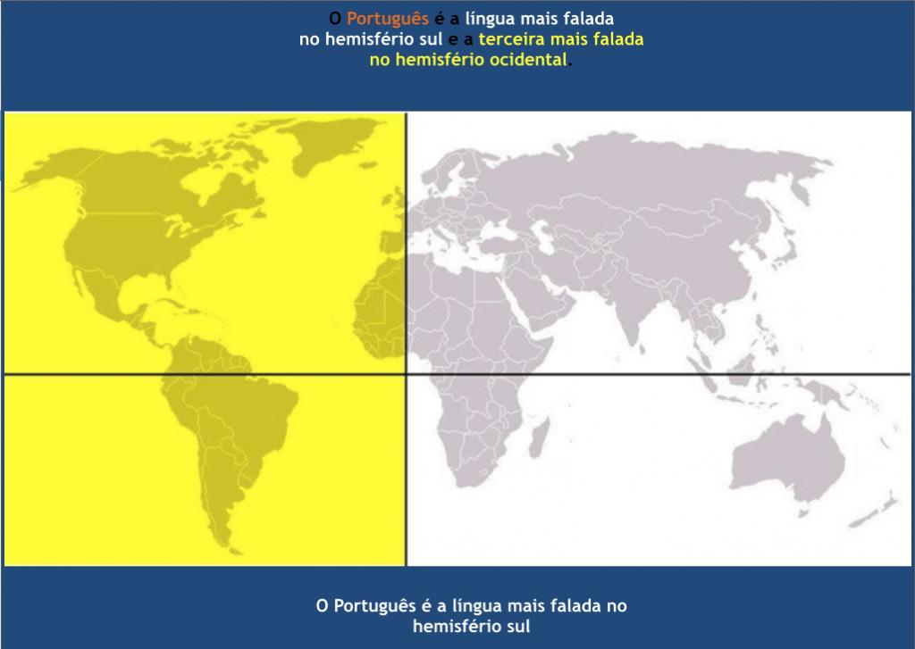 A Língua mais falada no Hemisfério Sul