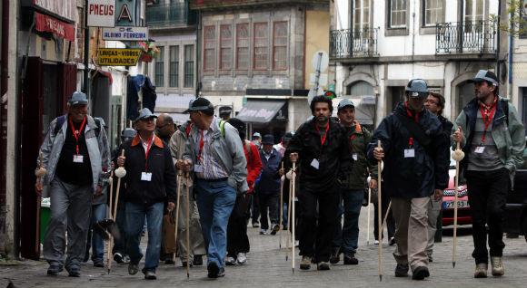 Peregrinos em Santiago de Compostela. 31 de julho de 2016. JOSE COELHO/LUSA