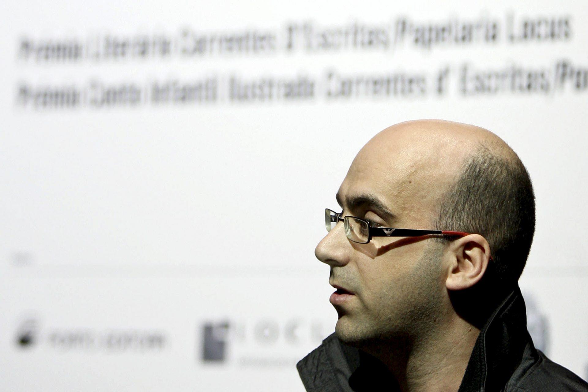 O escritor Valter Hugo Mãe. Correntes d'e Escritas/Casino da Póvoa, 24 fevereiro de 2010. ESTELA SILVA/LUSA