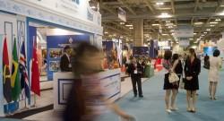 A 20.ª edição da Feira Internacional de Macau abriu esta manhã as portas, no centro de convenções do hotel casino Venetian, em Macau, China, 22 de outubro de 2015. A Feira decorre até 25 de outubro e conta mais de 150 expositores dos países de língua portuguesa, a maioria dos quais provenientes de Portugal. CARMO CORREIA/LUSA