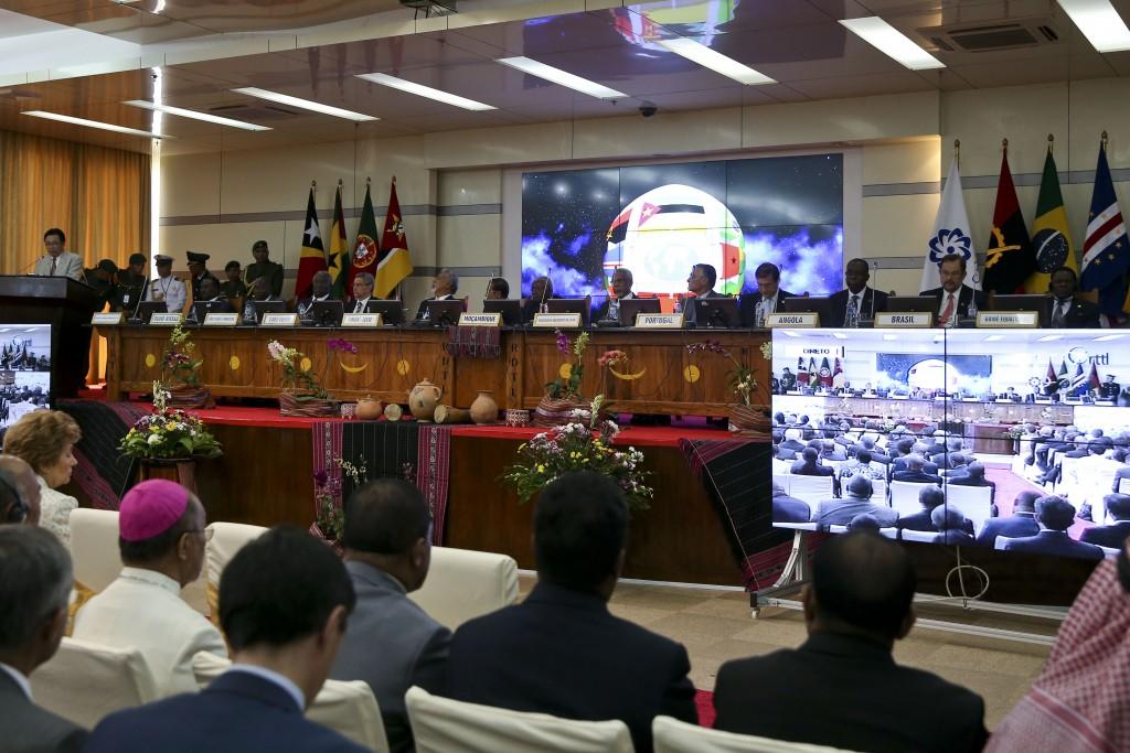 Cerimónia de abertura da X Conferência de Chefes de Estado e de Governo da Comunidade dos Países de Língua Portuguesa (CPLP), em Díli, Timor Leste, 23 de julho de 2014. PAULO NOVAIS/LUSA