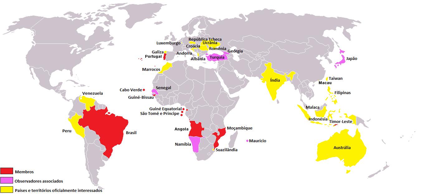 CPLP estados membros e associados