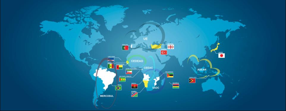 Países CPLP e Organizações Políticas regionais