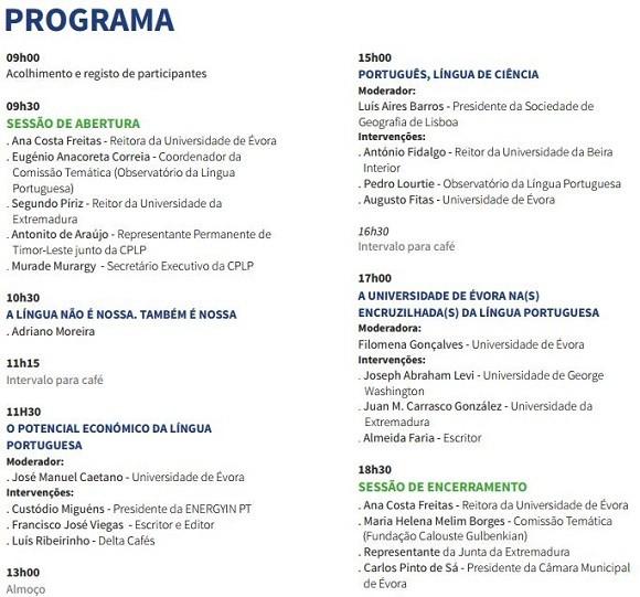 Programa Universidade de Évora