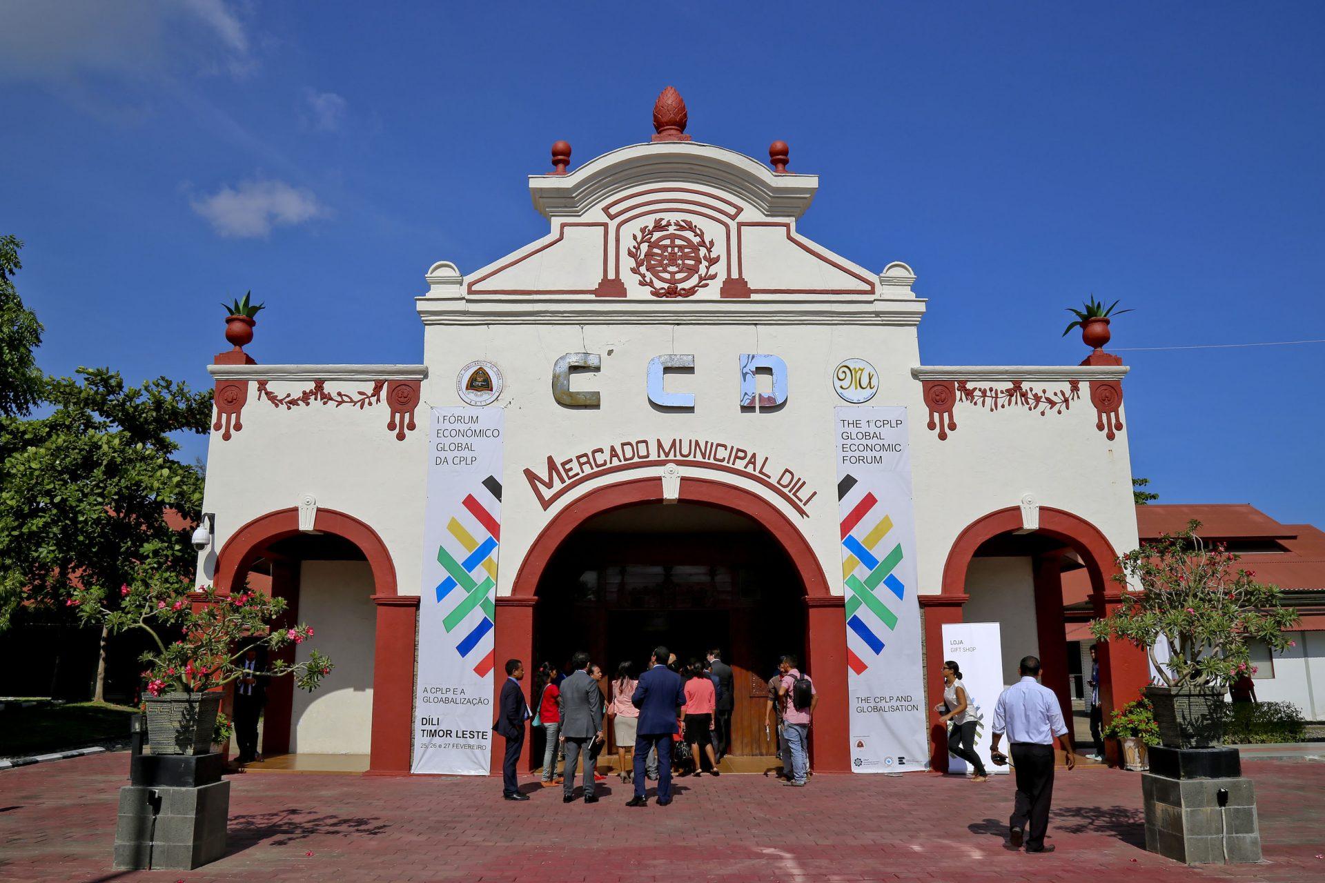 Antigo mercado municipal de Dili, agora Centro de Convenções de Díli onde decorre o encontro empresarial da lusofonia, Ásia e Pacífico, com centenas de empresários de mais de 25 países, Dili, Timor-Leste, 25 de fevereiro 2016. BERNARDINO SOARES/LUSA