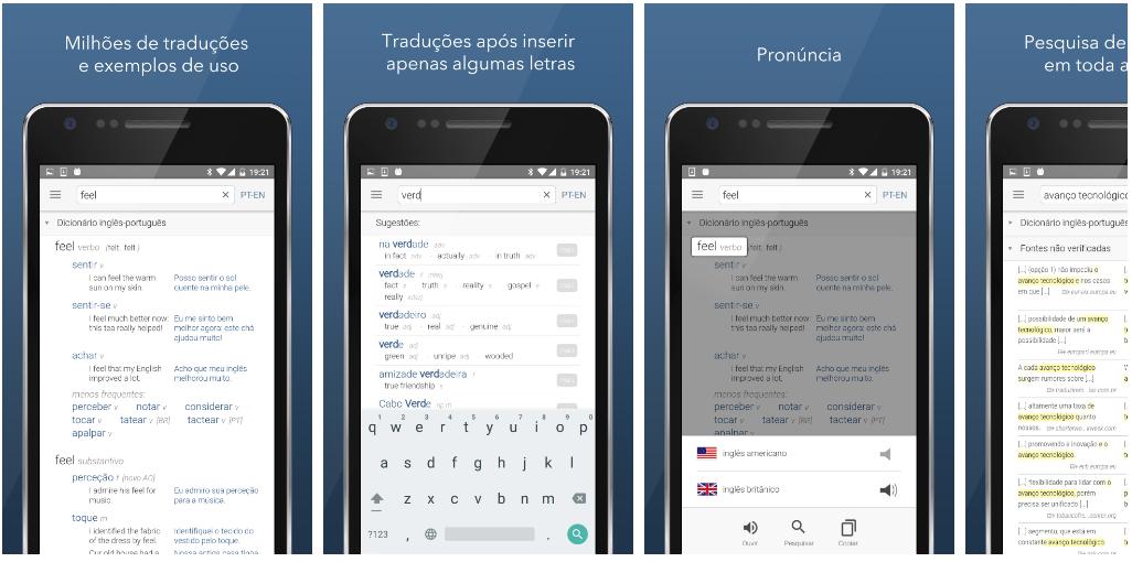 lançamento internacional do novo app-dicionário do Linguee para Android!
