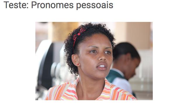 Teste pronomes pessoais