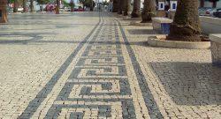 Calçada portuguesa na Praçade Espanha., Olivença