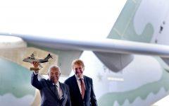 Primeiro-ministro português elogia parceria com Brasil que permitiu construir aeronave