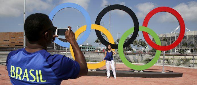 Símbolo dos Jogos Olímpicos RIO2016 no Parque Olímpico, 03 de agosto de 2016, Rio de Janeiro, Brasil. INÁCIO ROSA/LUSA