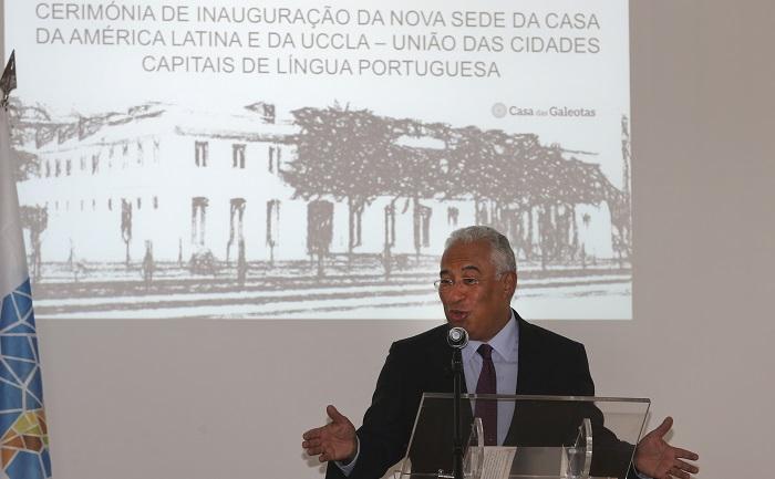 O primeiro-ministro, António Costa , discursa durante a inauguração da nova sede da União das Cidades Capitais de Língua Portuguesa (UCCLA) e da Casa da América Latina, em Lisboa, 30 de setembro de 2016. MANUEL DE ALMEIDA/LUSA