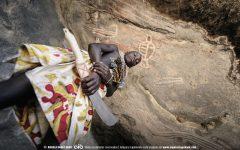 Pinturas rupestres do Namibe no sul de Angola