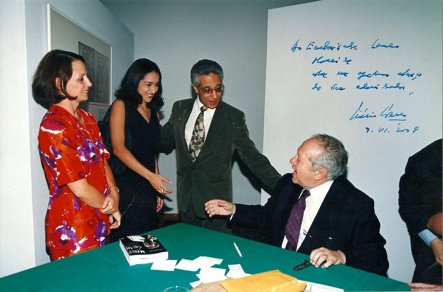 Lauro Moreira, Presidente do Conselho Diretivo do OLP-Observatório da Língua Portuguesa com Mário Soares