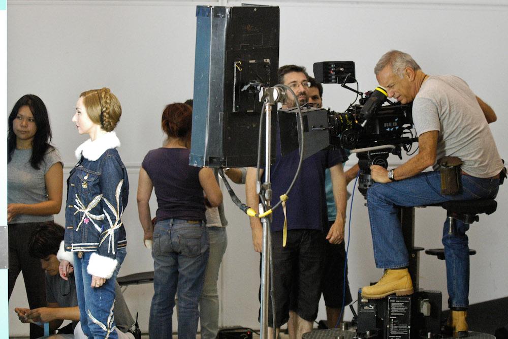 """Rodagem de """"Business"""", primeira longa metragem de ficção do realizador, Sérgio Trefaut, que tem como protagonista a actriz Maria de Medeiros, 29 de abril de 2010. NUNO VEIGA / LUSA"""
