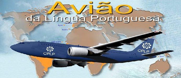 Avião CPLP Lingua Portuguesa