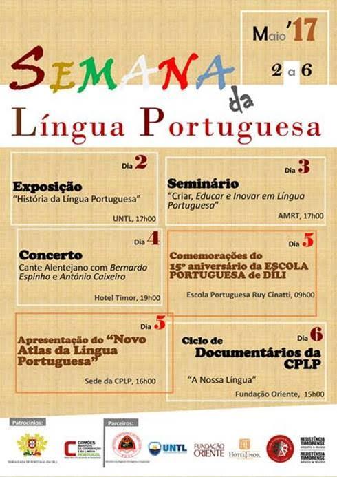 semana da lingua portuguesa dili