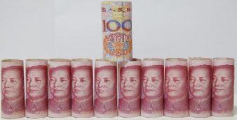 Foto LUSA: 100 Yuan ou Renminbi (RMB). EPA/WU HONG
