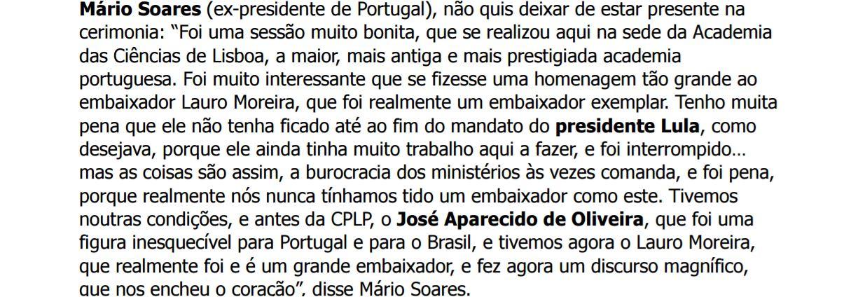 Mario Soares a LM