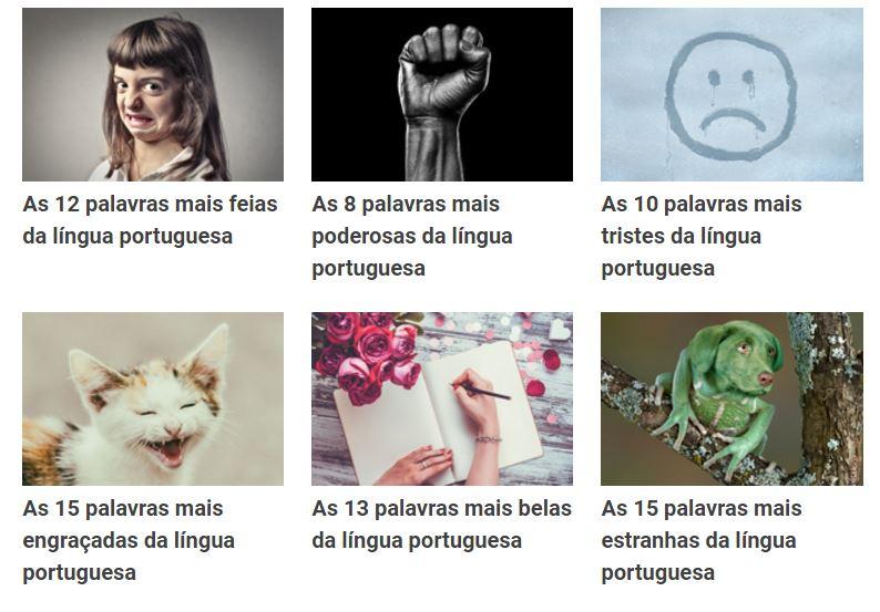 palavras do portugues