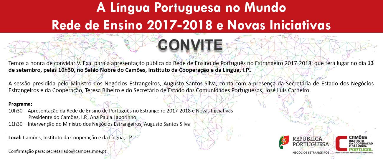 Convite Língua Portuguesa no Mundo