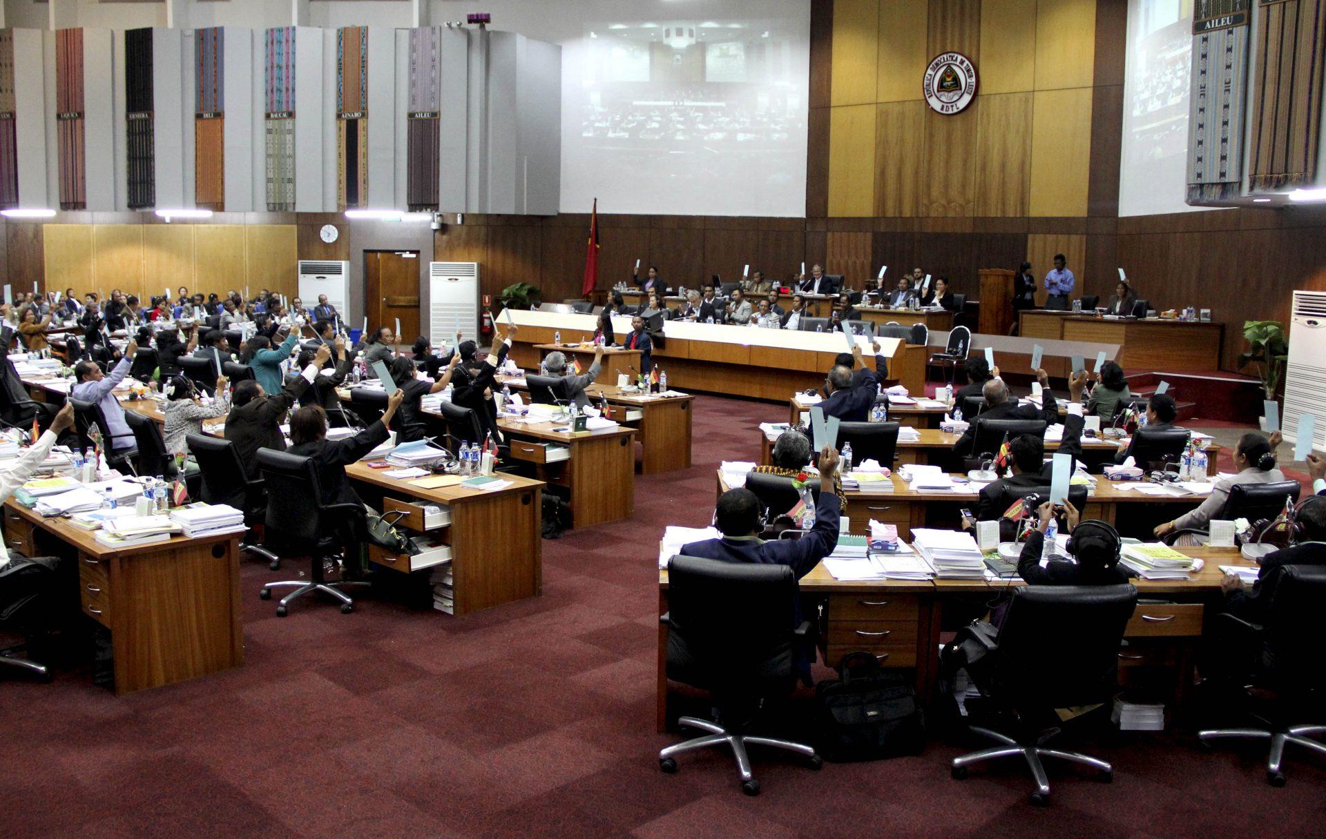 Parlamento timorense. 11 de janeiro de 2014, Dili, Timor-Leste. ANTÓNIO AMARAL/LUSA