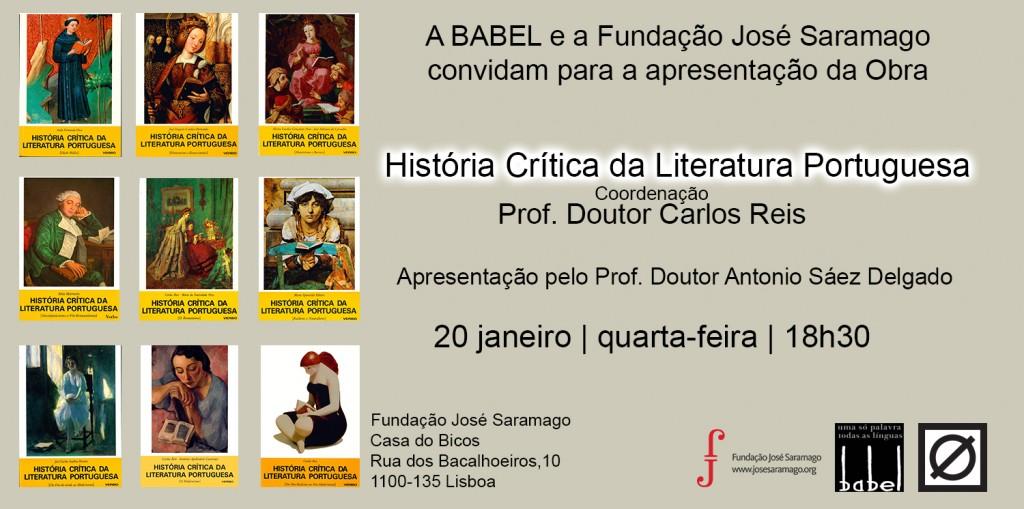 """""""História Crítica da Literatura Portuguesa"""", de Carlos Reis"""