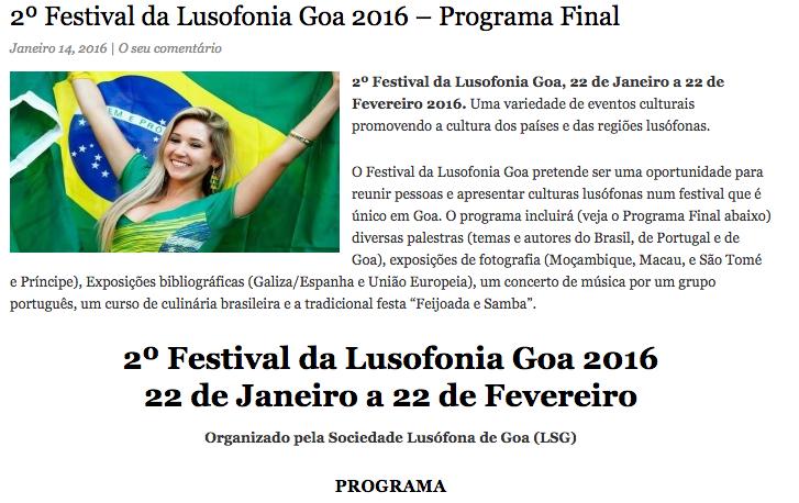 Música, fotografia e debates promovem lusofonia em Goa