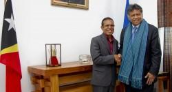 O secretário-geral da Associação das Nações do Sudeste Asiático (ASEAN), Surin Pitsuawan reúne-se com o presidente de Timor-Leste, Taur Matan Ruak no âmbito do pedido de adesão de Timor-Leste àquela organização, em Díli , Timor-Leste, 05 de novembro de 2012. ANTONIO AMARAL/LUSA.