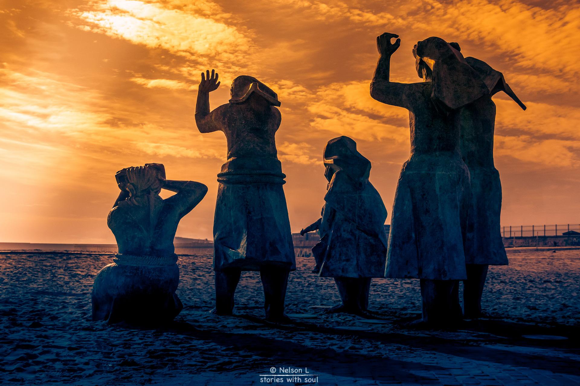 Viúvas de pescadores. Foto de Nelson Lourenço