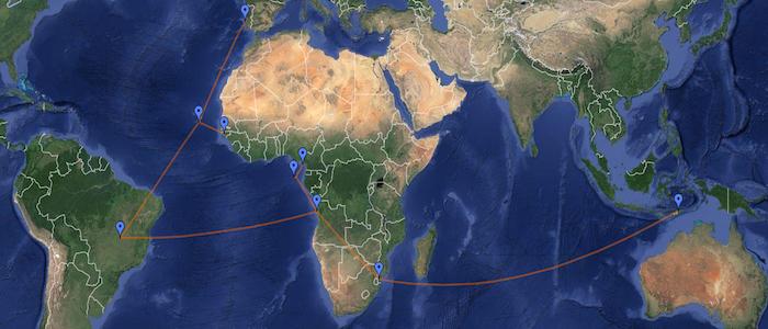 Viagem às capitais dos países da CPLP