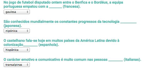 Soluções nacionalidades