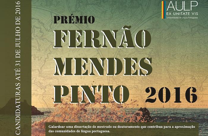 PRÉMIO FERNÃO MENDES PINTO (EDIÇÃO 2016)
