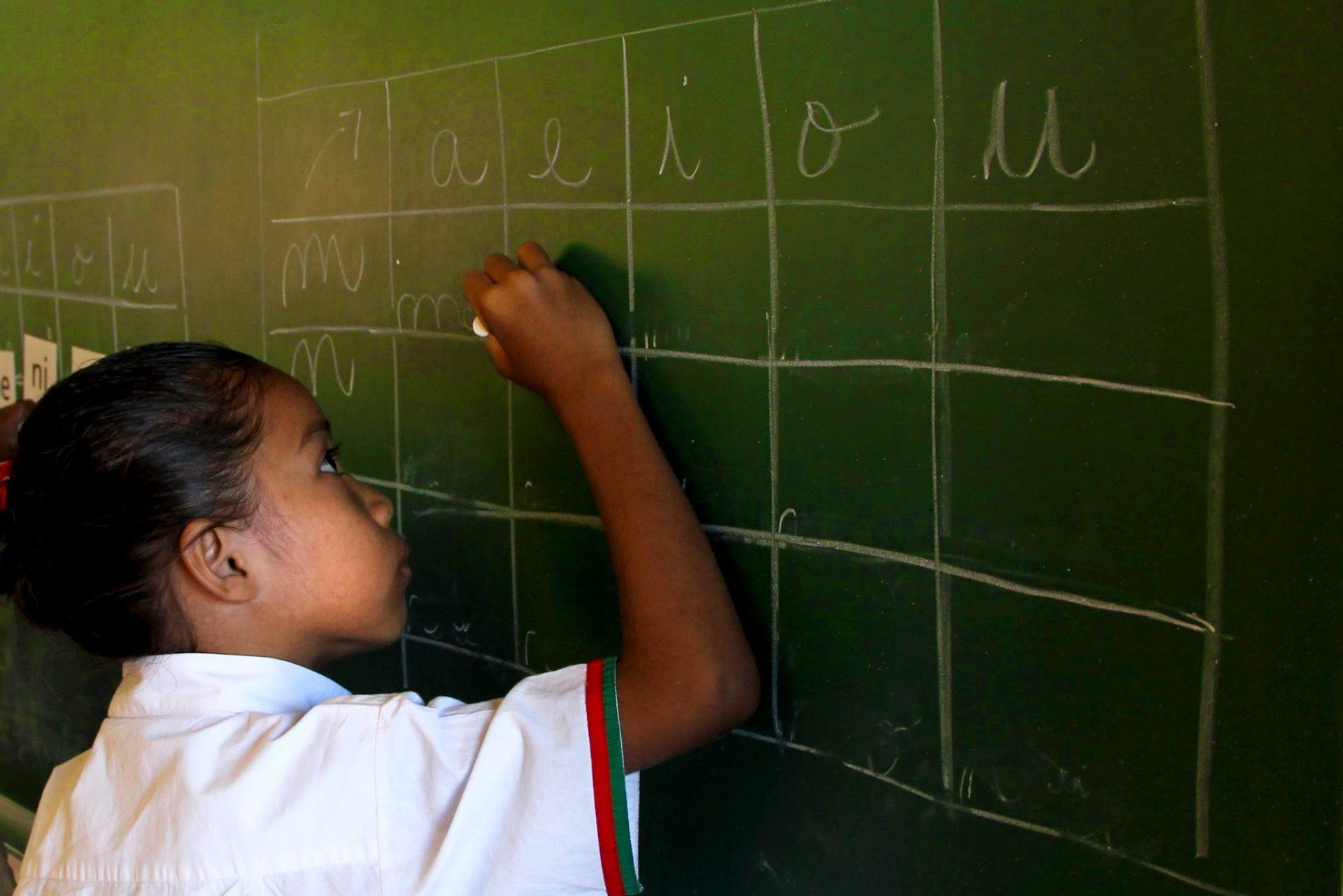 Escola Portuguesa Ruy Cinatti em Dili, Timor-Leste, 9 de novembro de 2013. ANTONIO AMARAL/LUSA