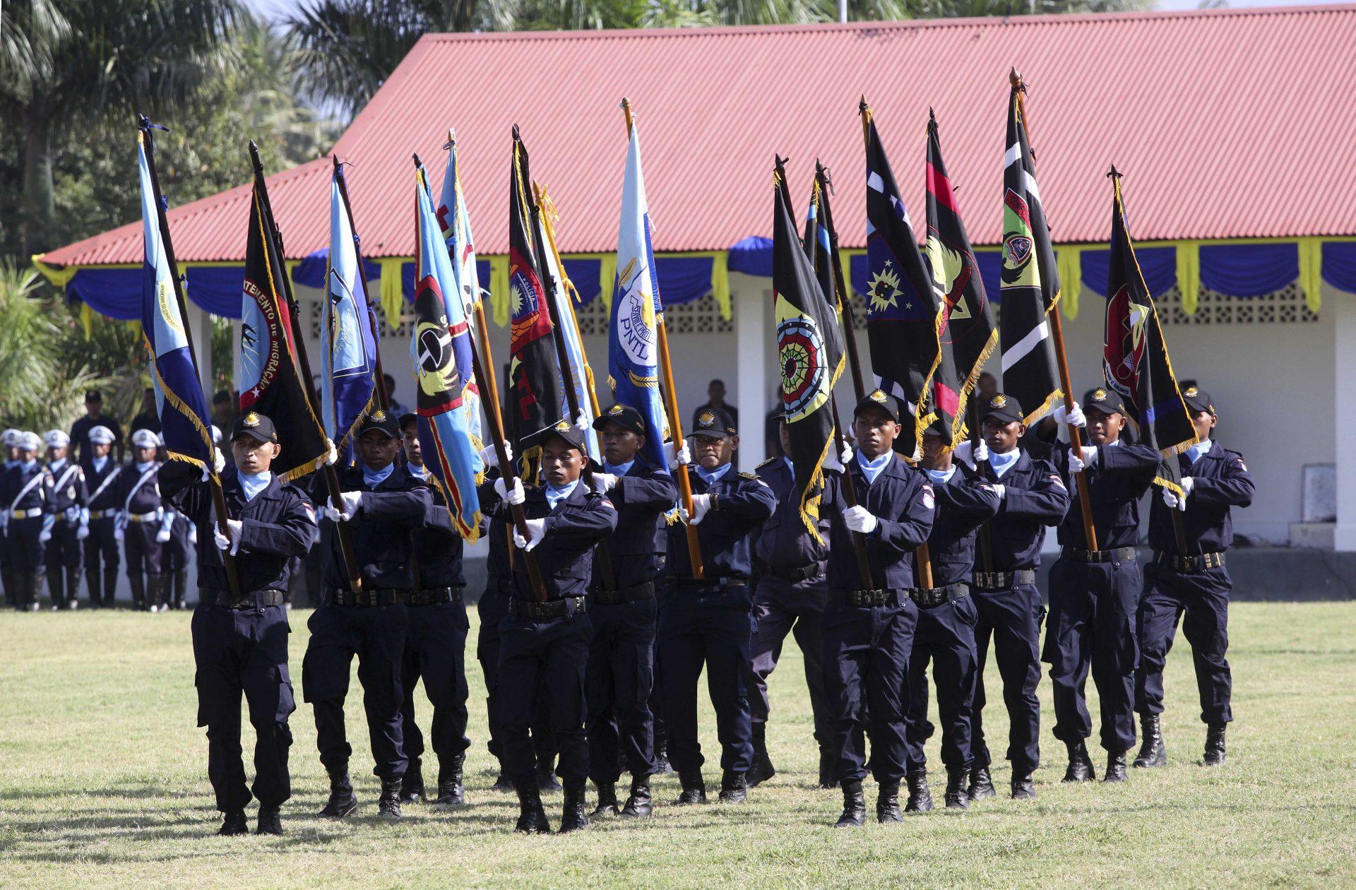 Cerimónia do 15.º aniversário da Polícia Nacional de Timor-Leste (PNTL) em Díli, Timor-Leste, 27 de março de 2015. ANTÓNIO SAMPAIO/LUSA
