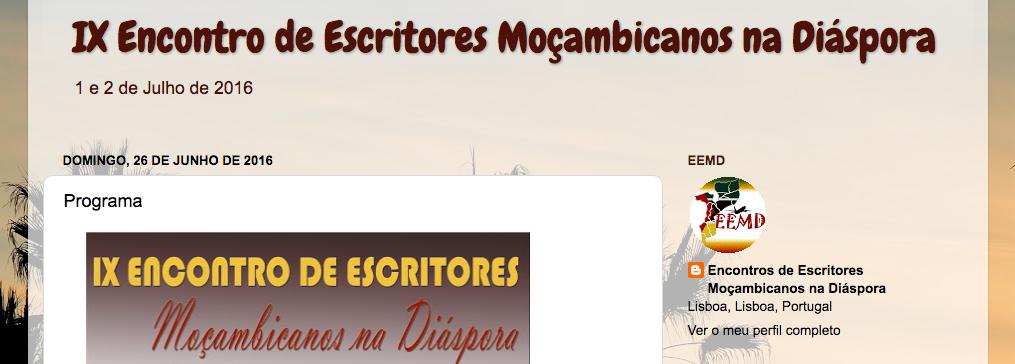 ix encontro de escritores moçambicanos na diáspora