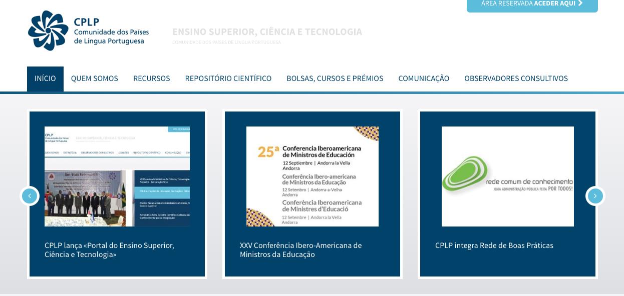 Portal do Ensino Superior, Ciência e Tecnologia da CPLP