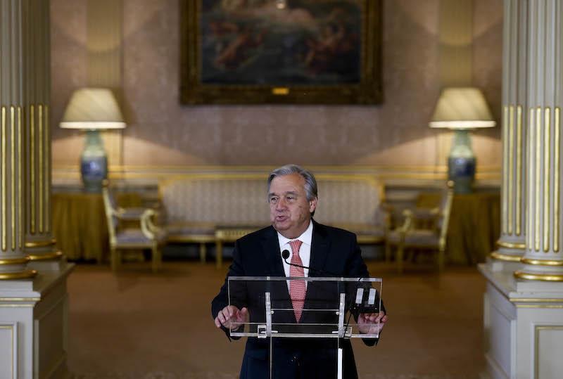 Antonio Guterres discursa no Palácio das Necessidades Necessidades, Portugal, 06 de outubro de 2016. ANDRE KOSTERS/LUSA
