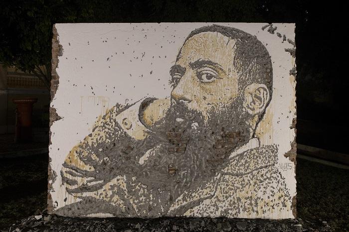 Vhils fez mural de Camilo Pessanha em Macau