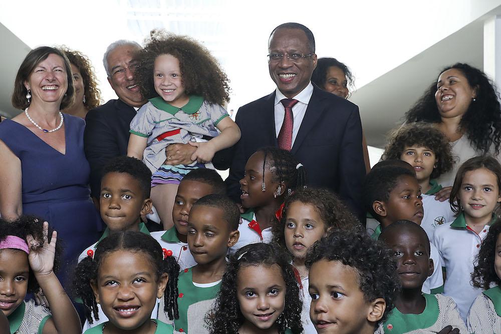 Inauguração da escola portuguesa na cidade da Praia, em Cabo Verde