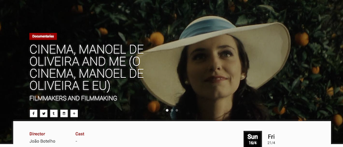 Filmes de Portugal e Brasil no Festival Internacional de Cinema de Hong Kong