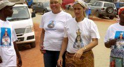 Milhares de pessoas visitam anualmente o Santuário da Muxima, na província do Bengo, a cerca de 230 quilómetros de Luanda, e muitos destes peregrinos trazem com eles as suas crenças mais ligadas à terra que expressam nos rituais católicos, Luanda, 17 de agosto de 2008.   PEDRO MAGALHÃES/LUSA