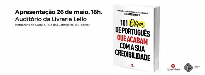 """Apresentação do livro """"101 Erros de Português"""""""