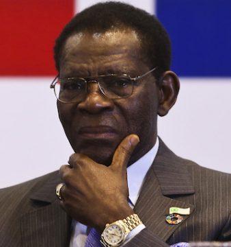 Presidente da Guiné Equatorial, Teodoro Obiang Nguema Mbasogo durante a cerimónia de encerramento da Cimeira da CPLP em Brasilia, no Brasil, 01 novembro 2016.  ANDRÉ KOSTERS / LUSA