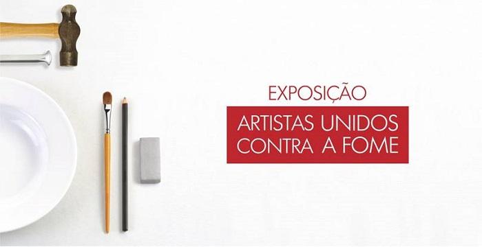 """Inauguração da exposição """"Artistas Unidos contra a Fome"""""""