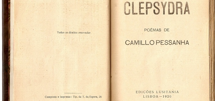 """""""Clepsydra"""", de Camilo Pessanha, lançada em Macau em formato de missal"""