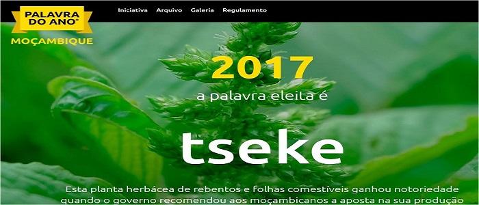 """A escolha dos moçambicanos para PALAVRA DO ANO 2017 foi para """"tseke"""""""