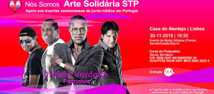 Convite para a III Gala Arte Solidária STP.