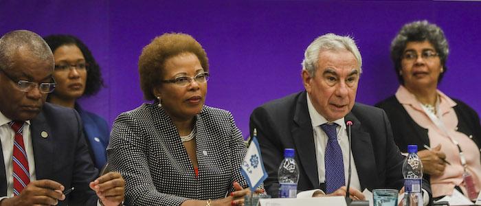 Presidentes de Portugal, Cabo Verde e São Tomé na posse do secretário executivo da CPLP